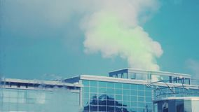 Green smoke back into the building stock video footage