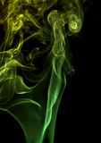 Green smoke in black back Royalty Free Stock Photography