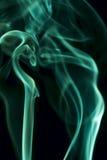 Green smoke on black background Stock Image