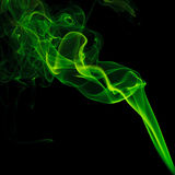 Green smoke on black background Royalty Free Stock Image