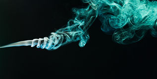 Green smoke curlys Royalty Free Stock Image