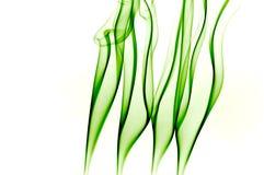 Green smoke leaves. Green smoke over white background resembling grass Stock Photos