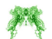 Green smoke pattern on white Royalty Free Stock Image