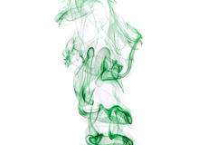 Green smoke Royalty Free Stock Image