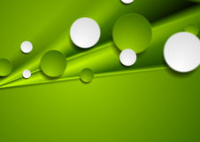 Green smooth stripes and circles design Royalty Free Stock Images