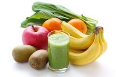 Green smoothie. On a white background, macro shot Stock Photos