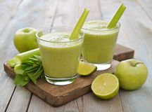 Green smoothie Stock Images