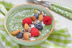 Green smoothie bowl Stock Photography