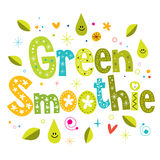 Green smoothie. Decorative type lettering design vector illustration