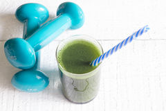 Green smoothie detox and fitness gym health care  Stock Photo