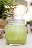 Green smoothie. Detox superfood Stock Images