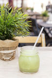 Green smoothie. Detox superfood Stock Image