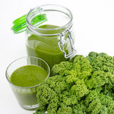 Green Smoothie With Fresh Kale Stock Image