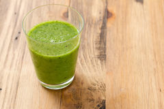 Green smoothie in glass Royalty Free Stock Photos