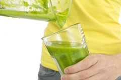 Green smoothie in the glass Stock Images