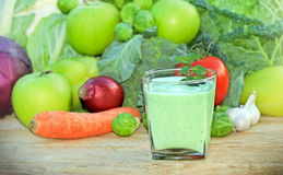 Green smoothie - green juice Royalty Free Stock Photos
