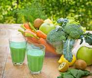 Green smoothie - healthy drink Stock Photos