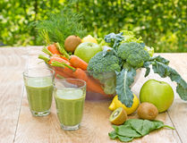 Green smoothie (healthy organic drink) Stock Photo