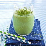 Green smoothie with herbs Stock Photos
