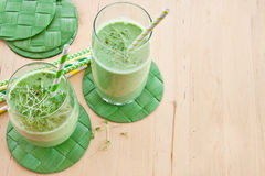 Green smoothie with herbs Royalty Free Stock Photography