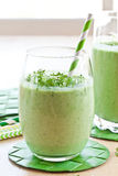 Green smoothie with herbs Stock Images