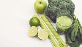 Green smoothie hero header Stock Image