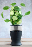 Green smoothie juicing concept Stock Images
