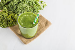Green smoothie with kale Royalty Free Stock Photos
