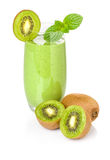 Green smoothie with kiwi Stock Images