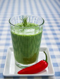 Green smoothie with red pepper Royalty Free Stock Image