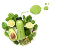 Green smoothie with space Stock Image