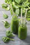 Green smoothie with spinach Royalty Free Stock Photography
