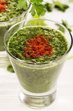 Green smoothies Royalty Free Stock Images