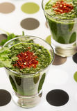 Green smoothies Stock Photography