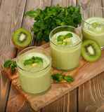 Green smoothies Royalty Free Stock Photo