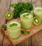 Green smoothies Royalty Free Stock Photo