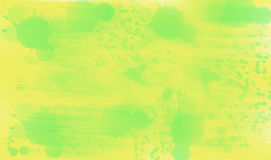 Green Smudges on Yellow. Abstract Illustration of Green smudges on yell Royalty Free Stock Image