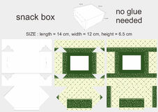 Green Snack Box 12 x 14 x 6.5 cm Royalty Free Stock Photography
