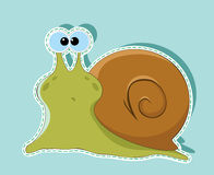 Green snail Royalty Free Stock Image
