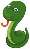 Green snake. Illustration of isolated cute green snake on white background stock illustration