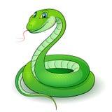 Green snake. Cartoon Illustration of a nice green snake vector illustration