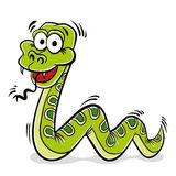 Green snake cartoon. Stock Images