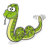 Green snake cartoon. Royalty Free Stock Image