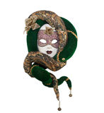 Green snake venetian mask. Stock Photography