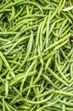 Green or snap beans on display Royalty Free Stock Image