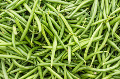 Green or snap beans on display Stock Photography
