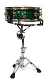 Green snare drum. Isolated on a white background stock photo
