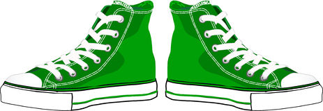 Green sneakers Royalty Free Stock Photos