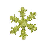 Green snow flake ornament Stock Photography