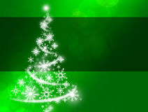 Green Snowflake Christmas Tree Stock Images